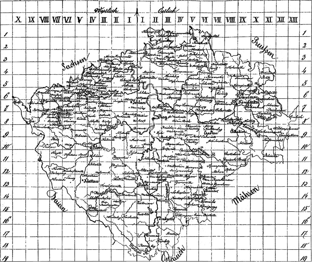 2nd Military Survey in scale 1 : 28 800 - Bohemia